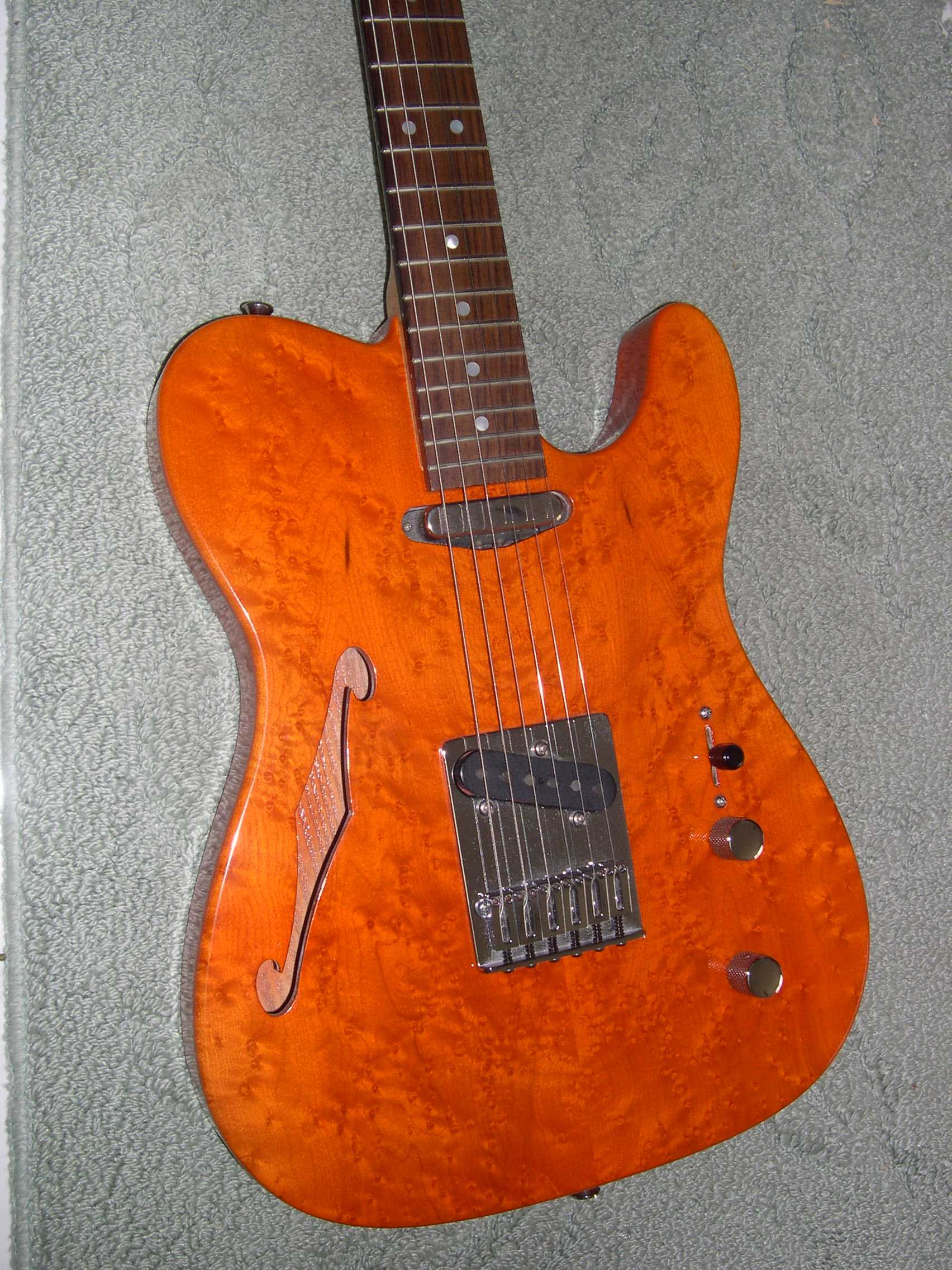 Bozo's Fender Guitar Pages - 1992 Warmoth Thinline Telecaster